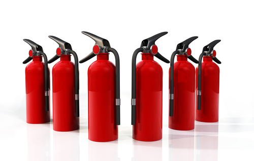 Different fire extinguishers are used to put put out different kinds of fires.